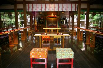 京都府 東天王 岡崎神社 ご祈祷場所